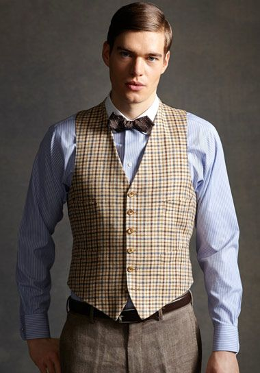 The Great Gatsby Collection Tattersall Vest
