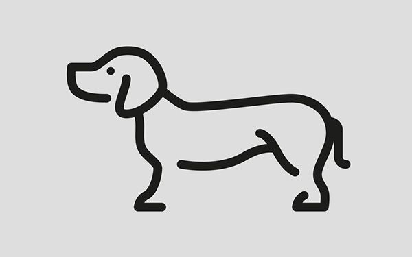 Design and concept of 20 animal pictograms in a coherent style, using only the strokes necessary to make the pictograms resemble their physical equivalents.