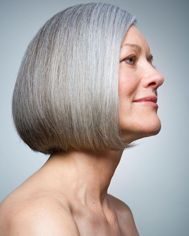 graue haare mit bob grau granny hair pinterest bobs haar und sch nheit. Black Bedroom Furniture Sets. Home Design Ideas