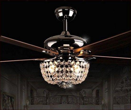 Crystal Chandelier Ceiling Fan Combo Option