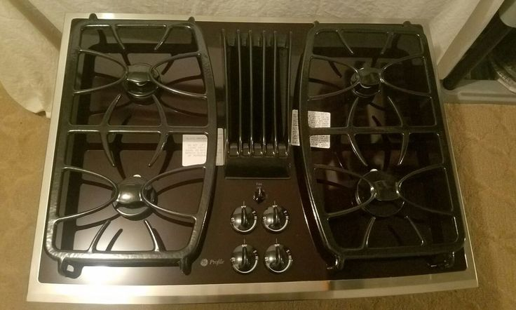 "$999 free ship - customer changed mind. GE Profile 30"" Gas Downdraft Cooktop Stainless Steel Trim pgp989sn1ss 11,500 BTU #GE"