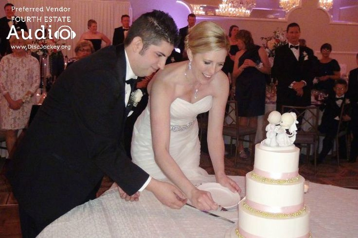 """Rich and Kate made their grand entrance, and cut their wedding cake, to """"Crazy in Love"""" by Beyonce and Jay-Z.  #RealChicagoWedding  http://www.discjockey.org"""