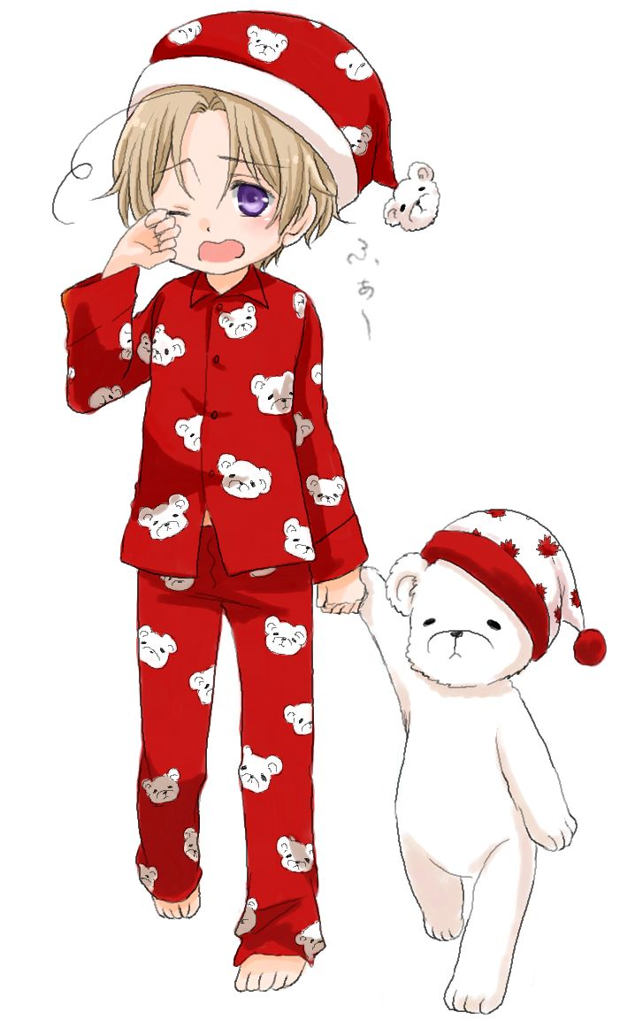 弥生ねこ - Hetalia - Canada (Matthew Williams)<<<POLAR BEAR PYJAMAS!!!!!