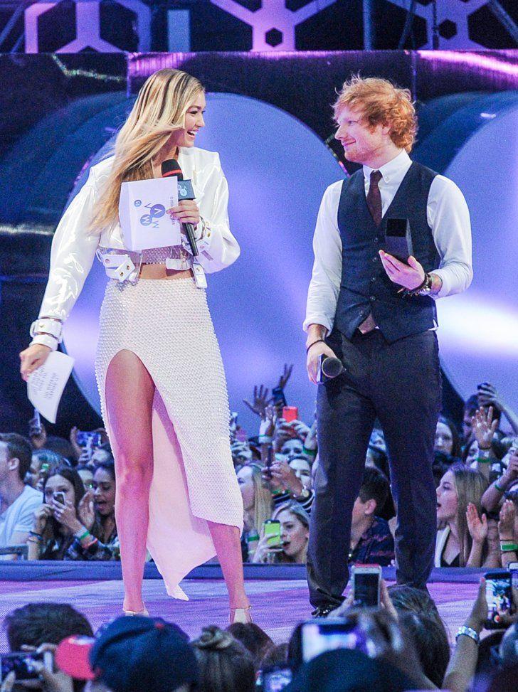 Pin for Later: Die Stars feiern eine riesige Party bei den Much Music Video Awards Gigi Hadid und Ed Sheeran