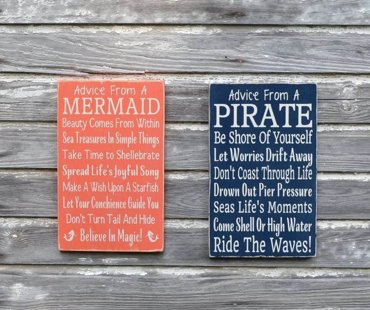 Nautical Nursery Sign Kids Room Wall Art Advice From A Pirate Custom Beach Plaque Decor Coastal Theme Bedroom Gift Bathroom Ocean Childrens - The Sign Shoppe - 3