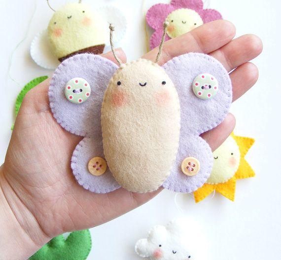 PDF pattern Spring baby crib mobile ornaments. от iManuFatti