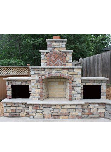 Top 25+ best Outdoor fireplace brick ideas on Pinterest | Diy ...