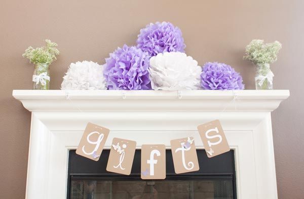 "little signs like this would be so easy! ""welcome"" ""baby shower"" ""gifts"" ""yums"" the possibilities are endless!"