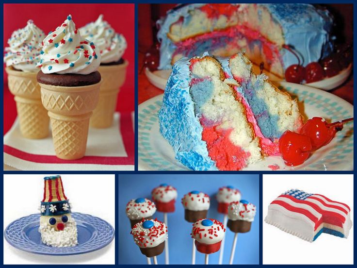 4th funDesserts Ideas, Fourth Of July, Blue Desserts, Dessert Ideas, Ice Cream Cakes, July Desserts, 4Th Of July, July 4Th, Ice Cream Cones