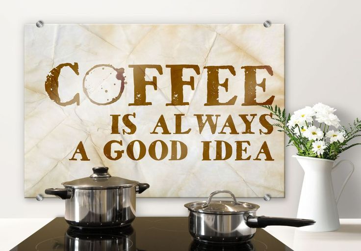 Spatscherm Coffee is always a good idea