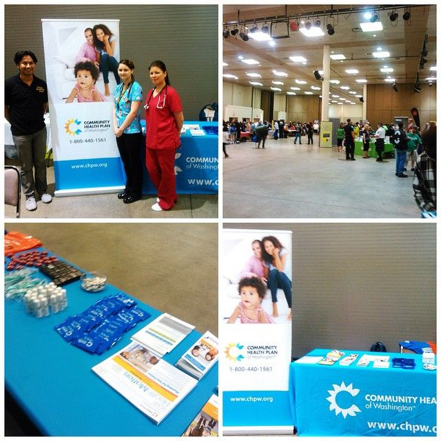 Last weekend CHPW attended the @mercyhousing Veterans Resource Fair at the Tacoma Dome! We were happy to have @seamarchc Puyallup nurses Yulia and Jasmine stop by our booth!