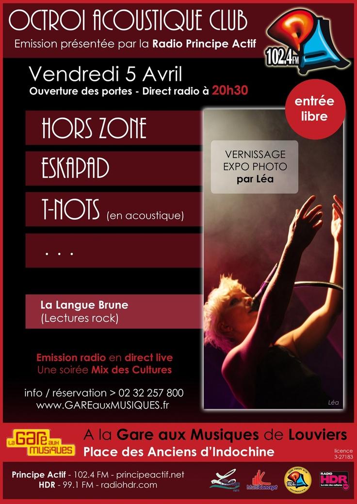Du beau, du bon, de l'octroi acoustique club à la Gare aux Musiques de #Louviers ce soir