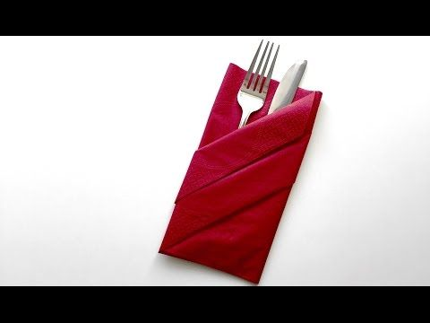 Servietten falten - Bestecktasche | How To? - YouTube