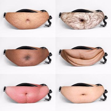 Casual Dad Bod Phone Waist Bag Flesh Colored Beer Fat ...
