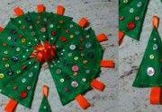 Decorazioni di Natale fai da te: gli alberelli di pannolenci