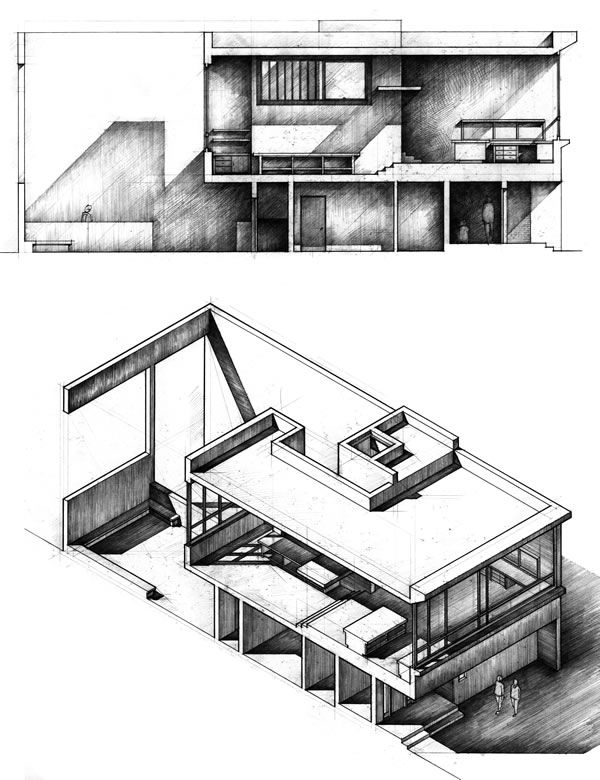 Architecture Drawing Pencil best 25+ section drawing ideas on pinterest | architectural