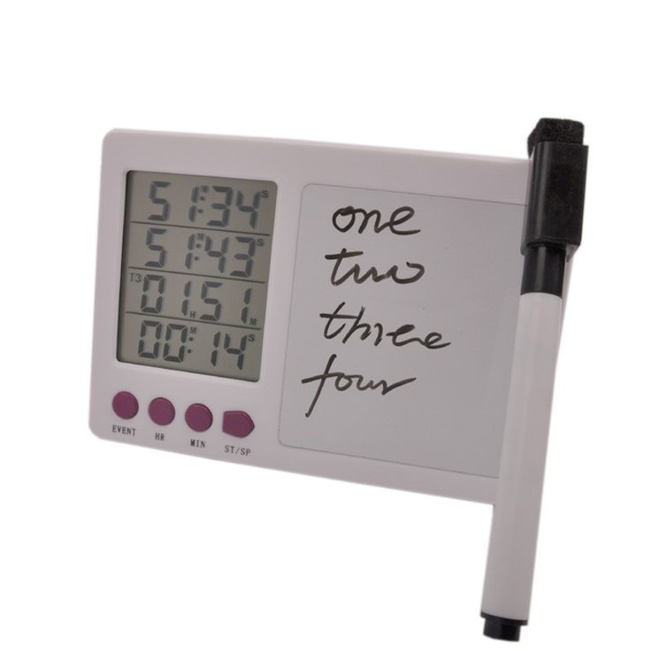 Large LCD Screen Kitchen Timer with Notepad