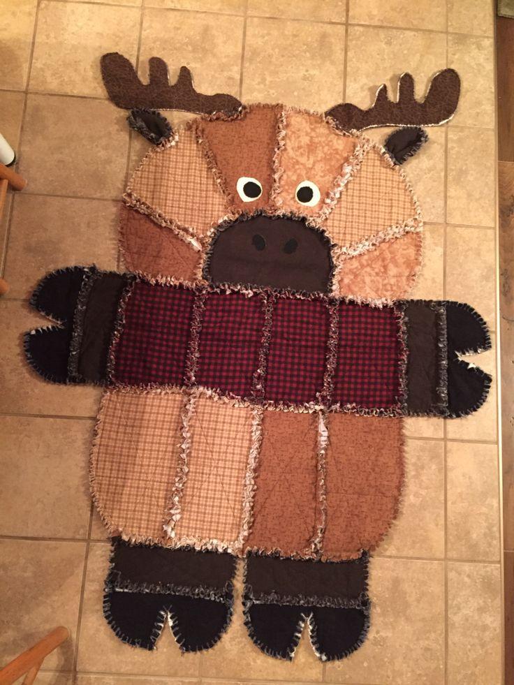 Rag quilt moose (Good idea for a nephew)
