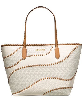 MICHAEL Michael Kors Nouveau Hayley Large East West Signature Top Zip Tote  | macys.com