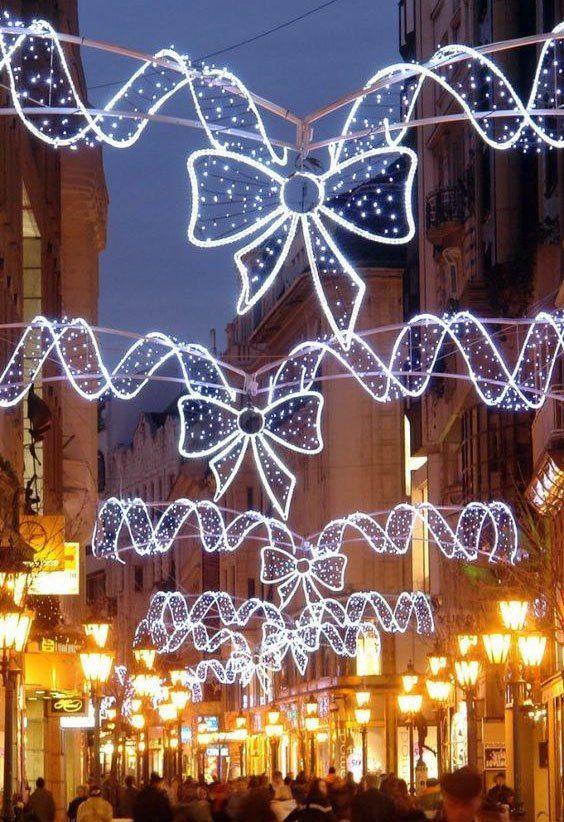 Commercial Christmas Decor Led Street Lights Decorating With Christmas Lights Christmas Lights Christmas Light Installation