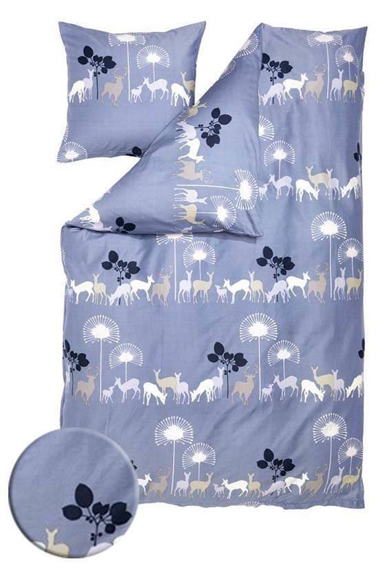 Påslakanset - Susanne Schjerning - Deer in the woods, Blue - 150x200 CM 399kr