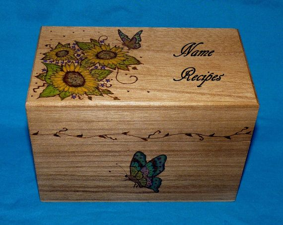 117 best hand painted recipe boxes images on pinterest - Decoratie recup ...
