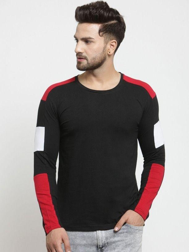 1bedb521ec5f7 Buy Attractive Men's T-shirt SKU-PACT03191558-BLK (Code: 36E3) online from  sourgrape's online