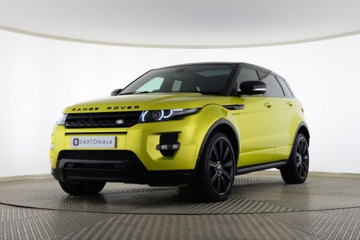 Used Land Rover Range Rover Evoque SD4 SPECIAL EDITION 5 DOOR Yellow for sale Essex YB13SWK | Saxton 4x4