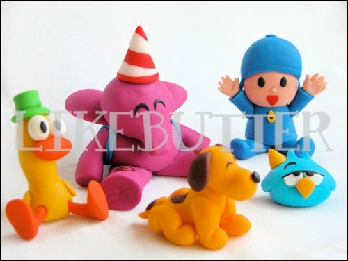 Edible Adorable Pocoyo Inspired Cake Toppers. $58.00, via Etsy.