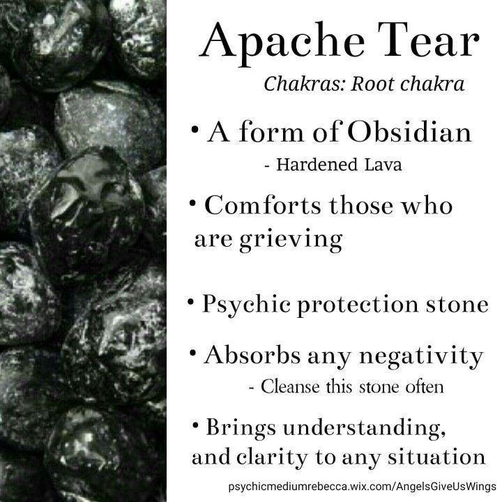Apache Tear crystal meaning