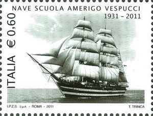 150th anniversary italian navy Training ship Amerigo Vespucc