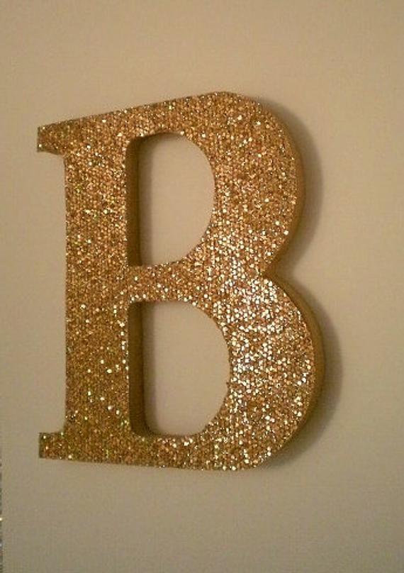 Gold Antique Gold Glitter Letters 8 Super Sparkling Etsy Glitter Letters Glitter Wall Gold Acrylic Paint