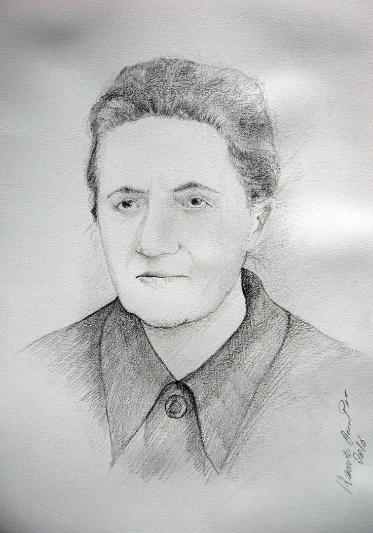 A portrait of the woman,pencil by Kamila Guzal-Pośrednik