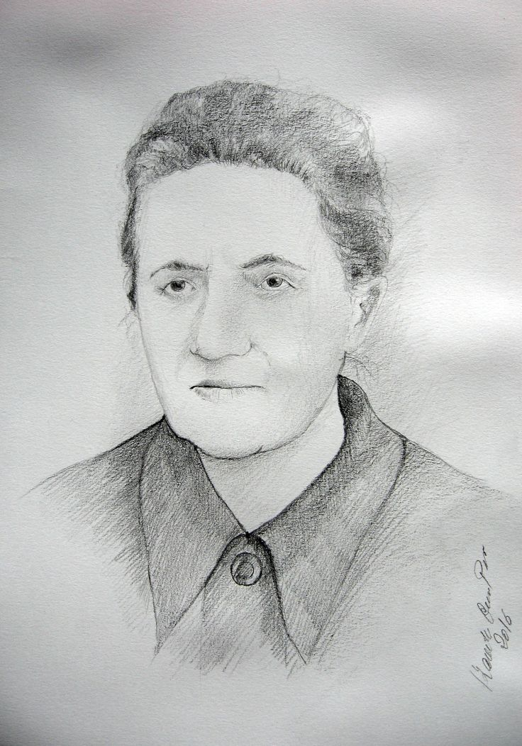 A portrait of the woman,pencil by Kamila Guzal-Pośrednik