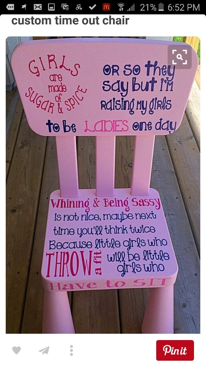 Marvelous Time Out Chair. Boy Time Out Chair Girl Time By ItsPersonalCrafts
