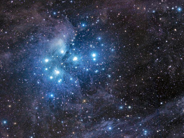 Imagen nebulosa de Pléyades