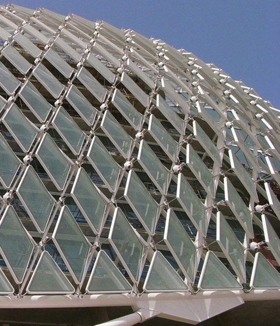 The YAS Hotel; LED facade detail; Abu Dhabi