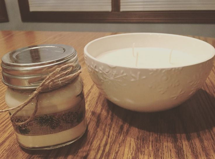 Homemade Candles - made with 100% natural soy wax flakes & scented with essential oils