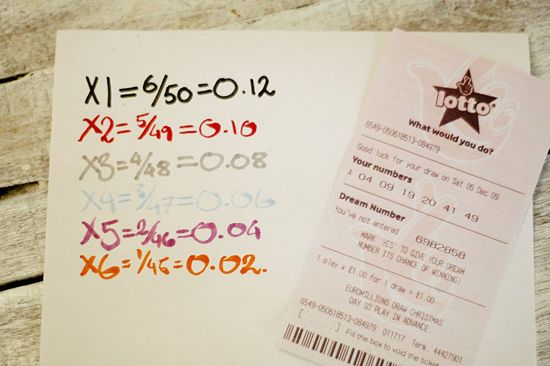 probability of winning lotto calculation