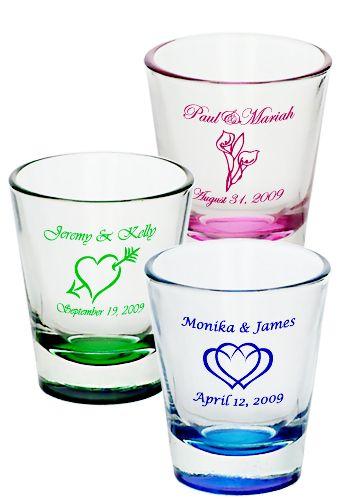 Personalized shot glasses...