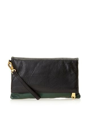 Christopher Kon Women's Morgan Two-Tone Clutch, Hunter/Black