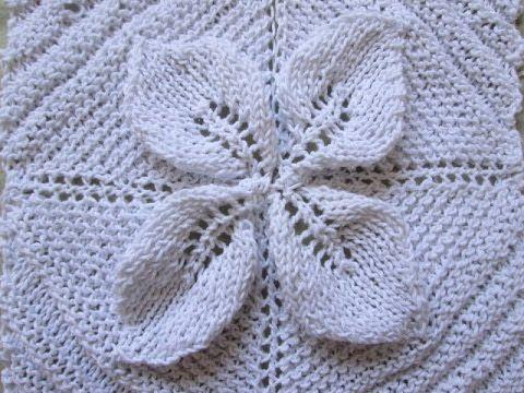 Square de folha de tricô PARTE 3 Costurando