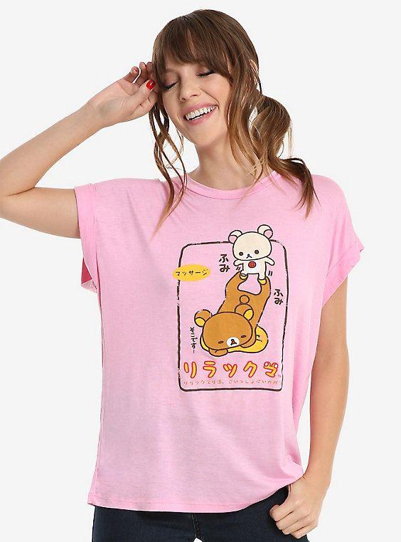 Rilakkuma Pink Womens Tee, PINK