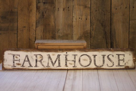 farmhouse sign rustic reclaimed wood kitchenlittleredhenandco