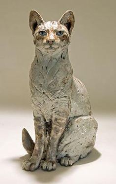 Clay Cat Sculpture by Nick Mackam