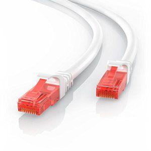 CSL – 20m câble cat.6 Ethernet Gbps Lan patch (RJ45) | 10/100/1000Mo/s | câble patch| UTP | compatible cat.5 / cat.5e / cat.7 |…