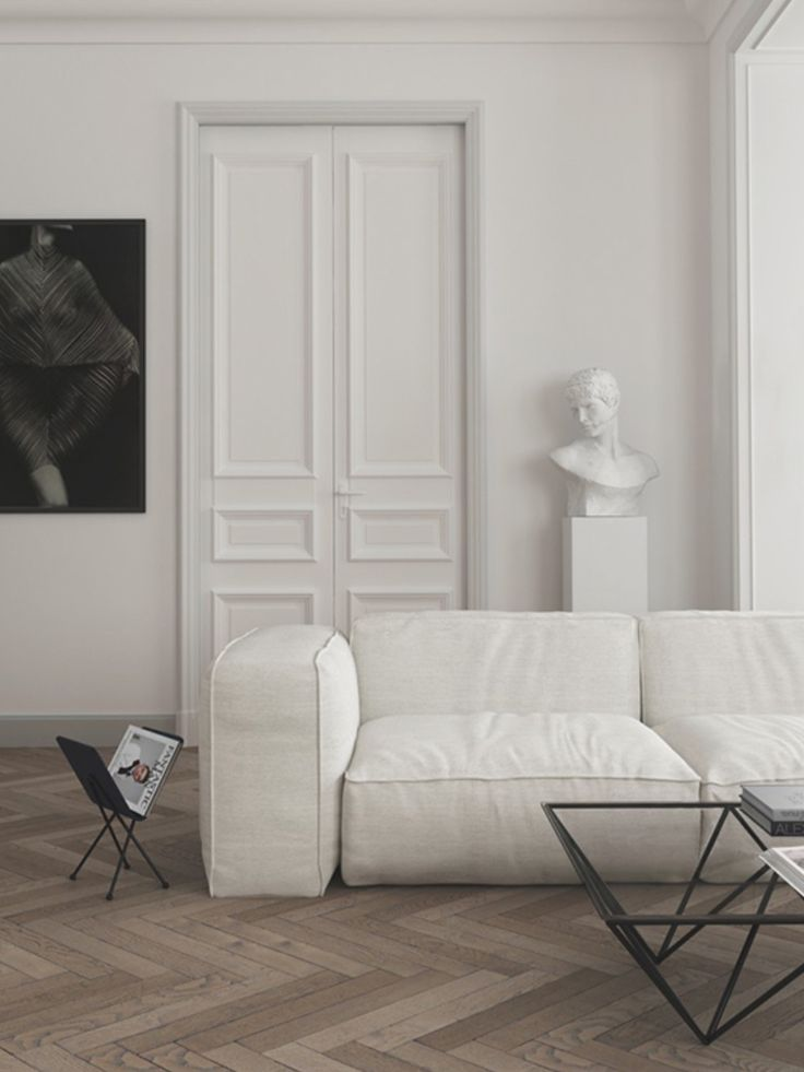 Image result for parisian apartment with white sofa