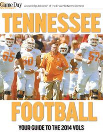 Tennessee Football 2014 | http://paperloveanddreams.com/book/894110347/tennessee-football-2014 | �Tennessee Football 2014� is a dynamic visual guide to this year�s University of Tennessee Volunteers football team. Nearly 400 photographs from the Knoxville News Sentinel and govols247.com are presented in galleries capturing more than 50 top players and their coaches in action. Capsule profiles summarize the players� stats and prospects for the season. Twitter links, a complete roster and…