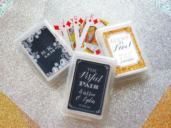 SET of 10 Custom Playing Card Wedding Favor Personalized Playing Cards - Personalized Wedding Favor Ideas