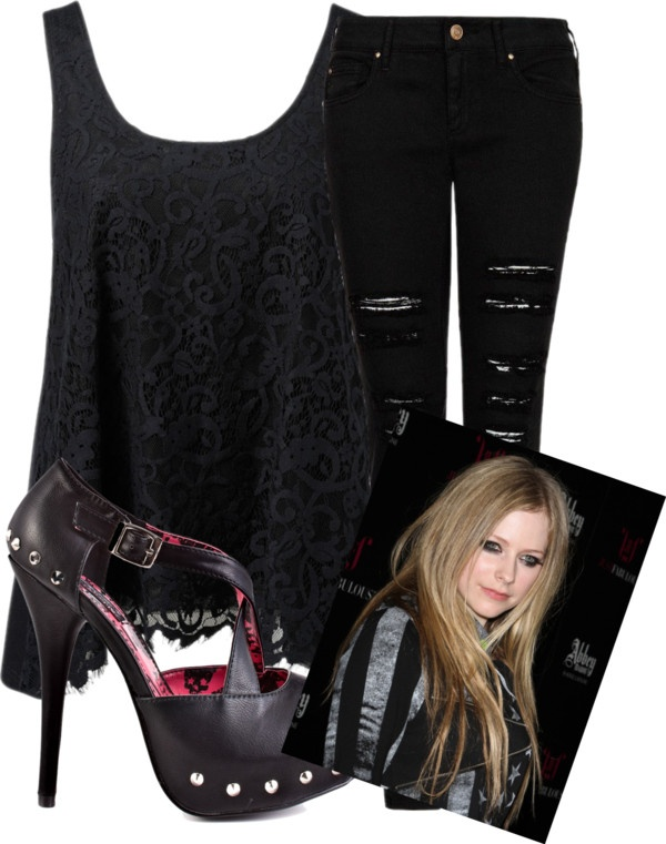 44 best images about Avril lavigne outfits on Pinterest | Shredded jeans Blue outfits and ...
